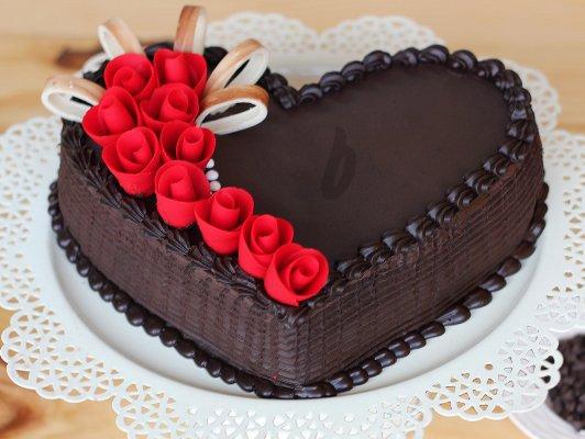 Choco Truffle Heart Shape Cake