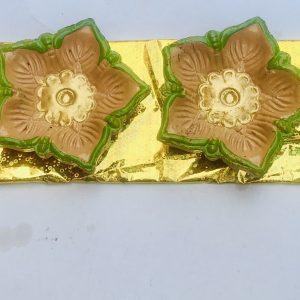 Elegant Floral Handpainted Clay Diyas set of 4