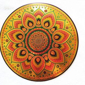 Shiny Rangoli Sticker for Diwali