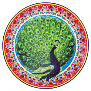 Unique Peacock Paper Rangoli Sticker