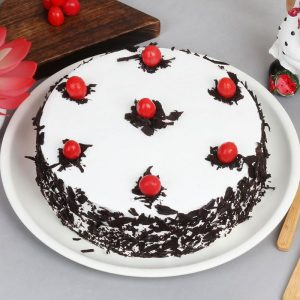 Creamy Black Forest Cake with Loaded Cherries