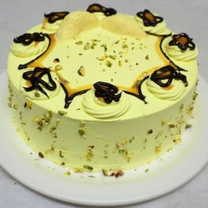 Eggless Rasmalai Cake with Choco Cream