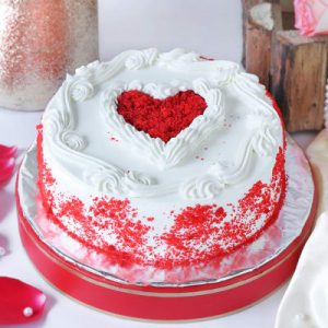 Heart of Red Velvet Cake