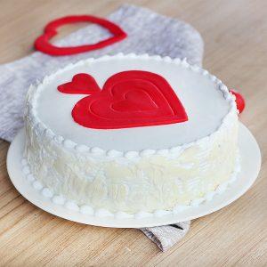 Hearticious Vanilla Cream Cake