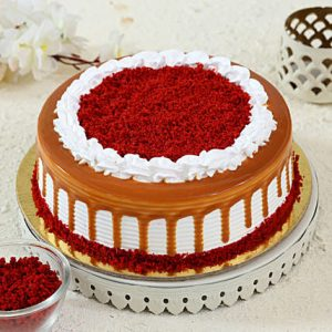 Round Shape Cream Red velvet Cake
