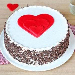Tripple Heart Chocolate Black Forest Cake