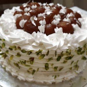 Vanilla Gulabjamun Cake