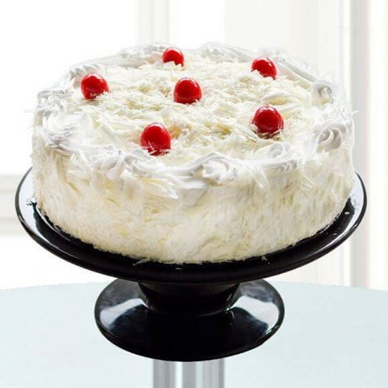 Cherry Toppings White Forest Cake