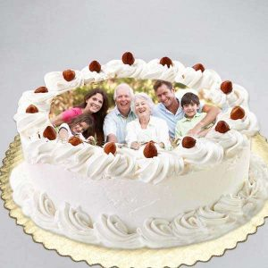 White Forest Photo Cake