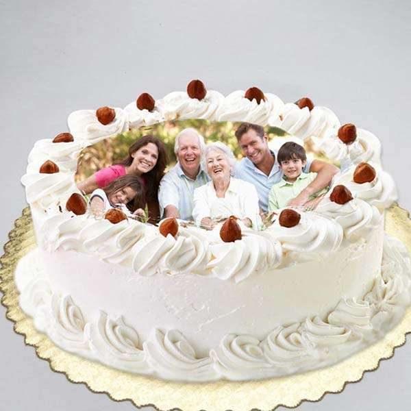 White Forest Photo Cake